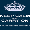 Keep Calm and Carry On redimensionnée