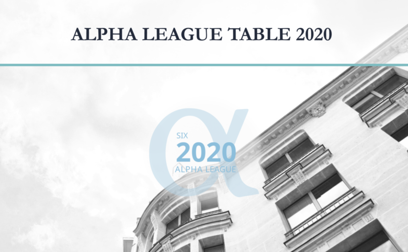 ALPHA LEAGUE TABLE 2020 | Lazard Frères Gestion conforte sa position dans le Top 10